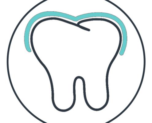 Zeichnung für das Zahnschienen Angebot der Zahnpraxis am Marienplatz